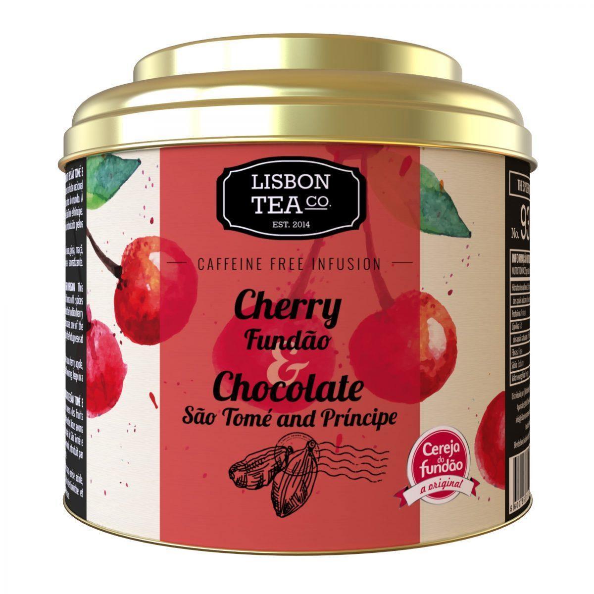 Lisbon Tea Cha Cereja Do Fundao E Chocolate De Sao Tome E Principe